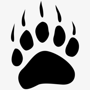 banner freeuse download Free paw cliparts silhouettes. Bear claws clipart