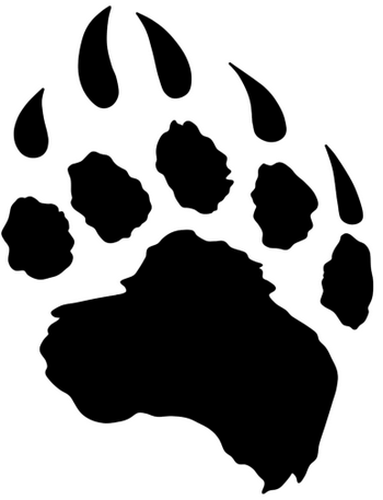 png black and white Free claw download clip. Bear claws clipart