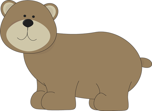 image transparent Cute brown . Bear clipart