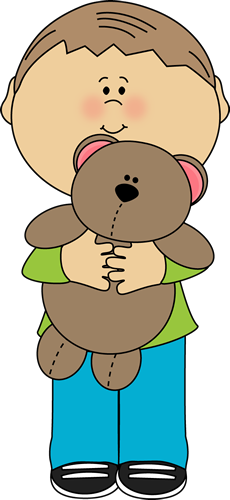 picture transparent With a teddy bear. Boy clipart toddler
