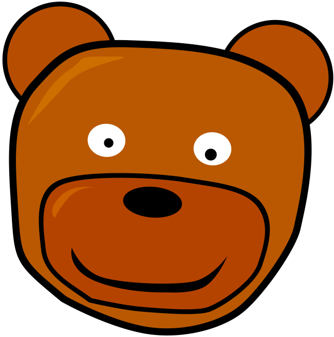 transparent Head craft projects animals. Bear clipart face
