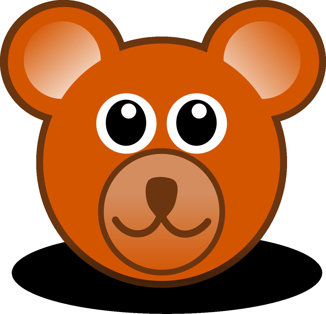vector black and white Bear clipart face. Teddy clip art clipartwiz