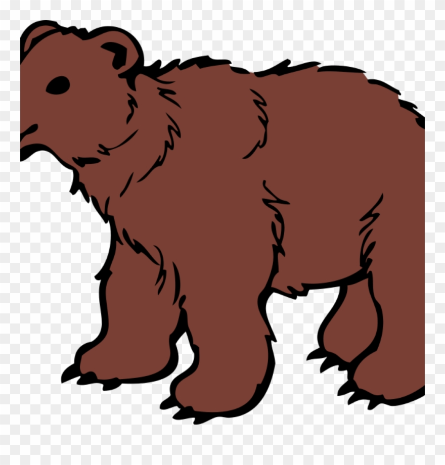 png black and white Cliparts grizzly at getdrawings. Bear clipart free