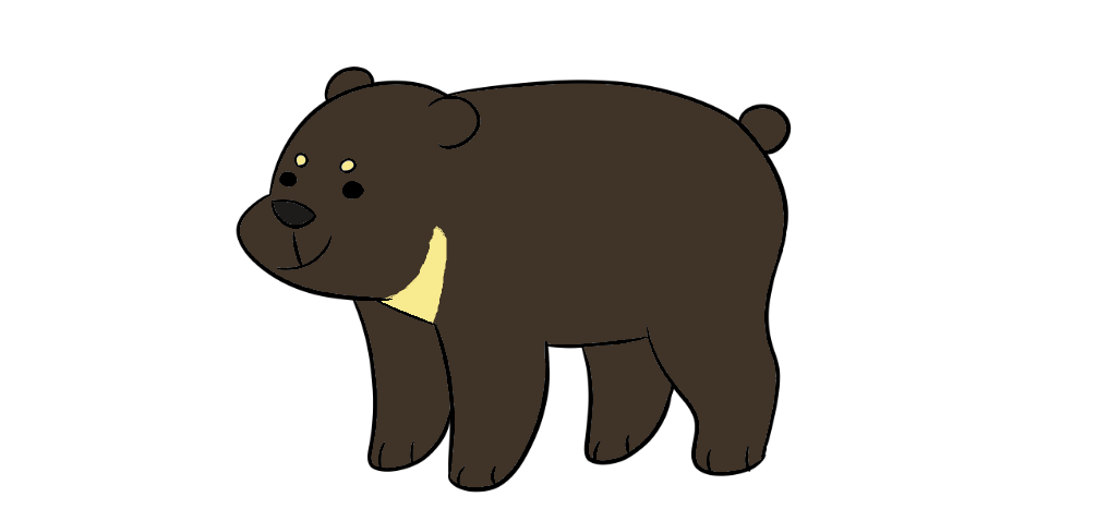 picture black and white Sun Bear Clipart compared
