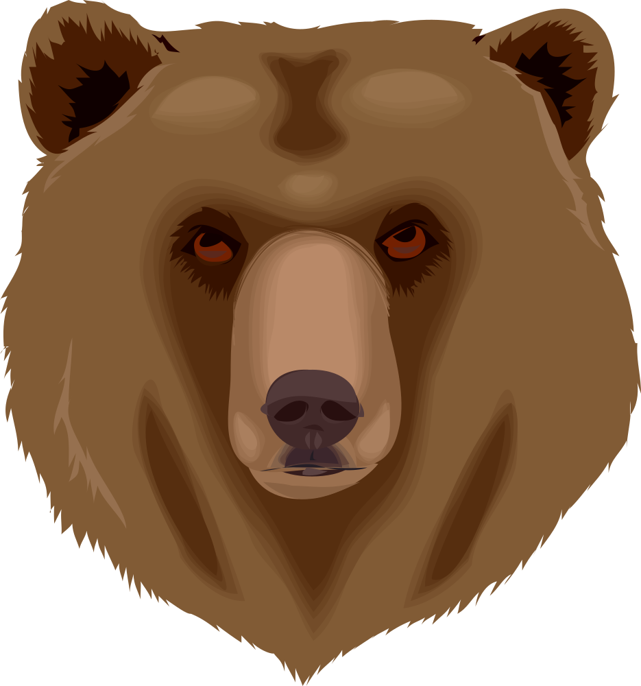 banner black and white download Grizzly friendly free on. Bear clipart images