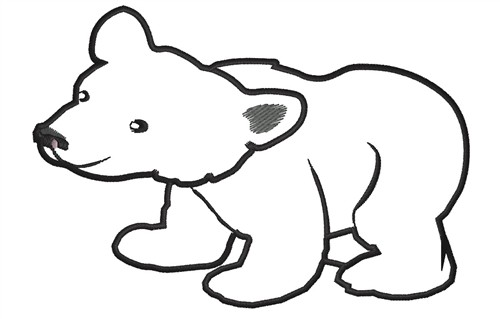 picture black and white stock Free of download clip. Bear clipart outline