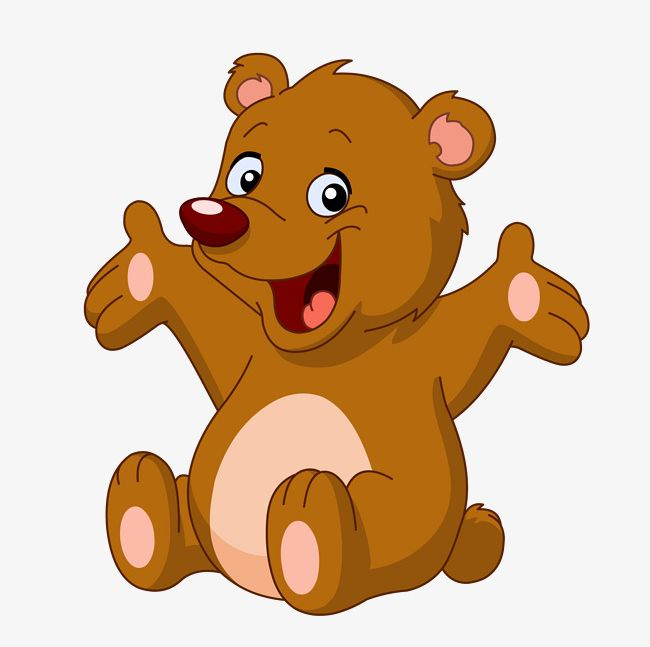 picture freeuse library Bear clipart png. Happy little animal animals