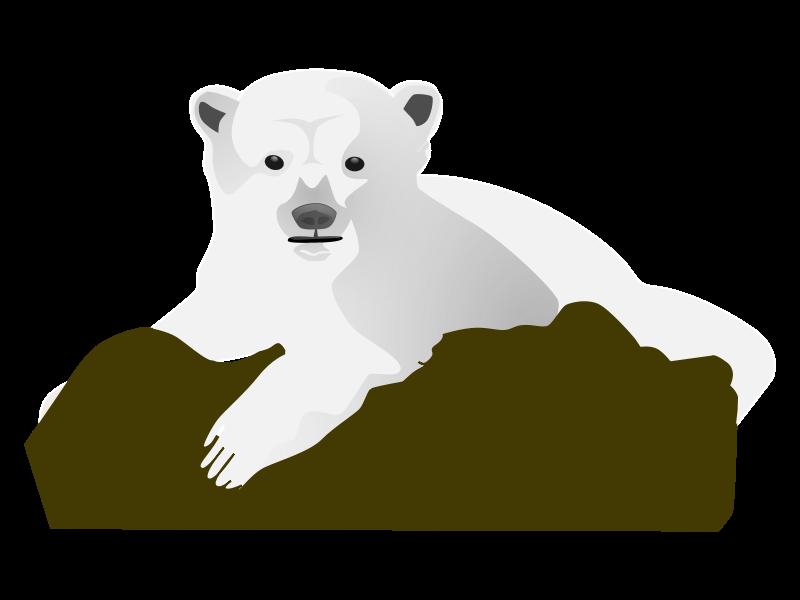 clip art freeuse library Arctic animal clipart. Polar bear animations knut
