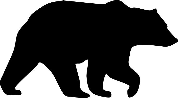 png black and white download Jesse s mirror image. Bear clipart silhouette