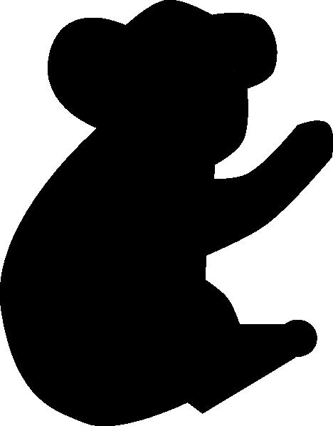image free Bear clipart silhouette. Koala clip art at
