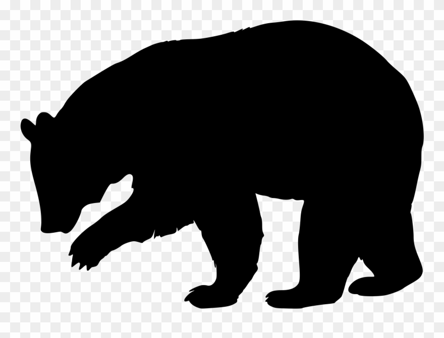 picture stock Clip black png download. Bear clipart silhouette
