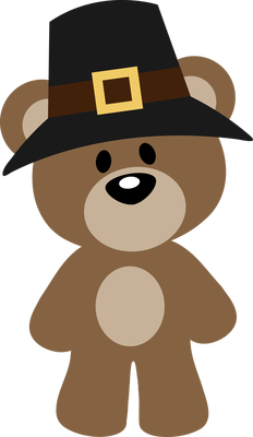 clip freeuse download Autumn fall or pilgrim. Bear clipart thanksgiving.