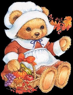 clip art freeuse stock Bear clipart thanksgiving.  b a png.
