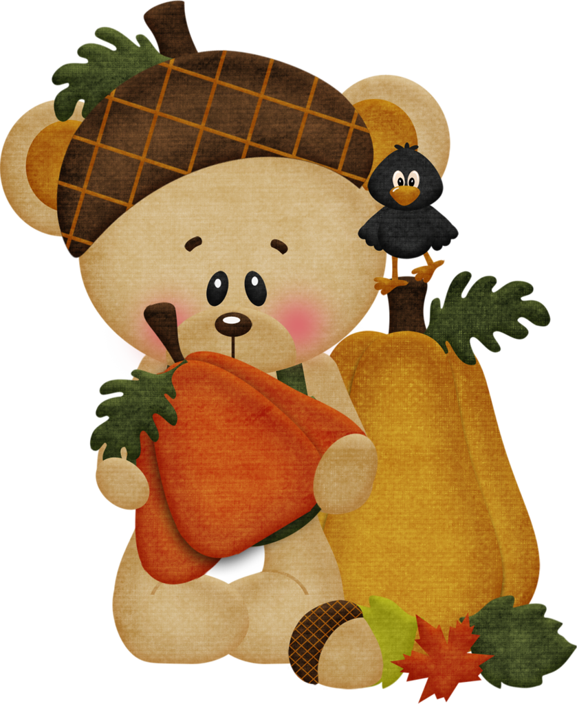 clip free Bear clipart thanksgiving. Welcome fall add on.