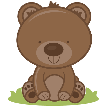 banner free library Bear clipart woodland. Baby svg cutting files.