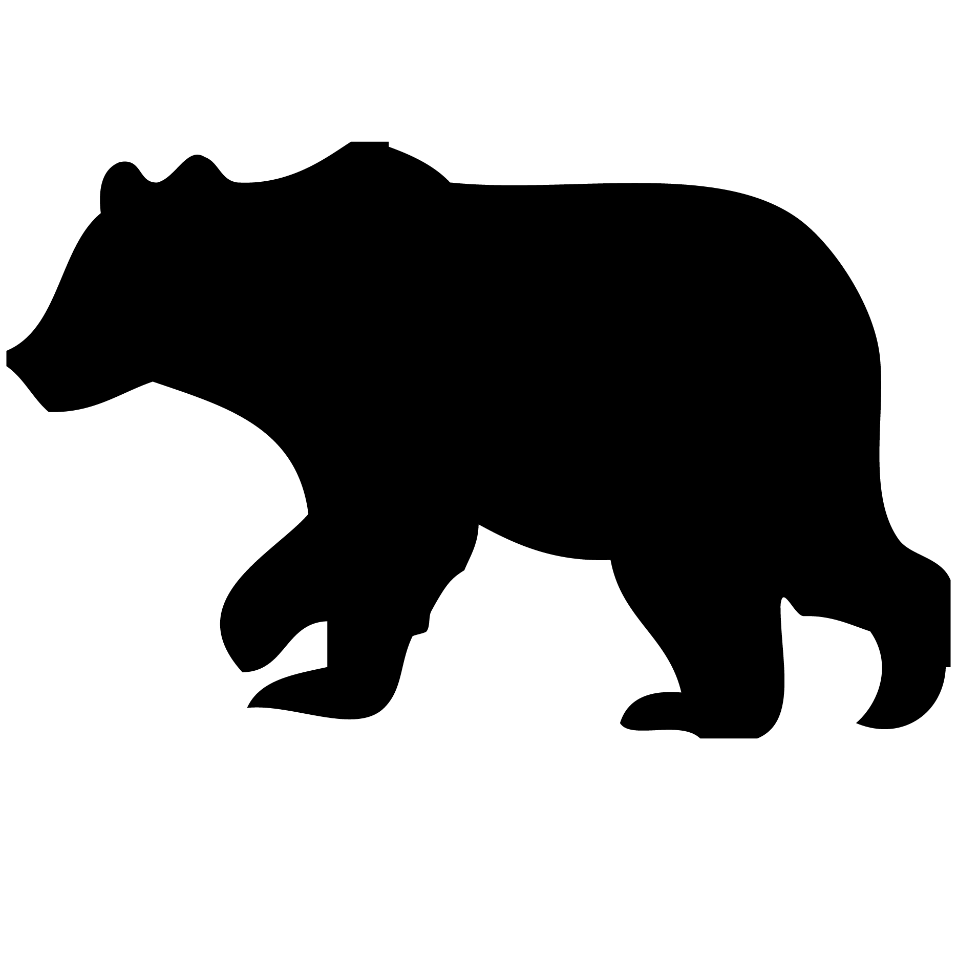 clip free stock Woodland animals silhouette at. Grizzly clipart wild bear