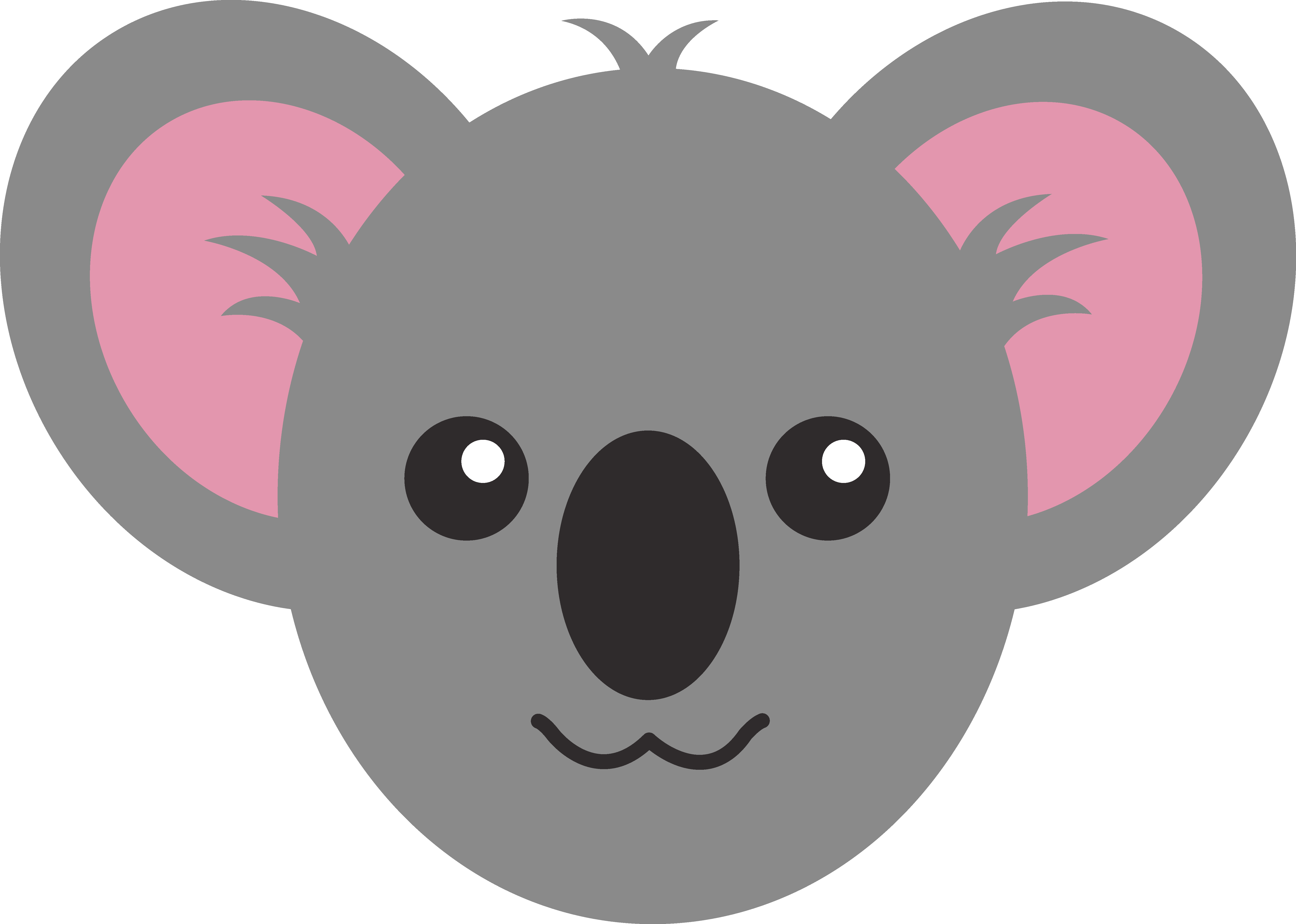 png freeuse library Bear face clipart. Koala
