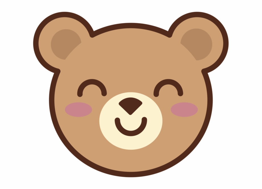 vector transparent download Bearface teddy free png. Bear face clipart