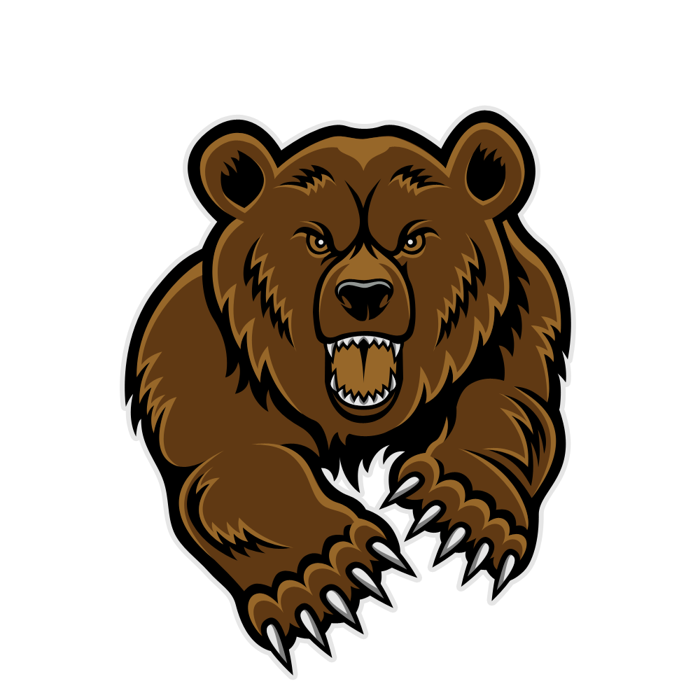 picture library download Mean Bear Face Clipart