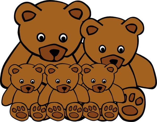 png download Bear family clipart. Clip art at clker