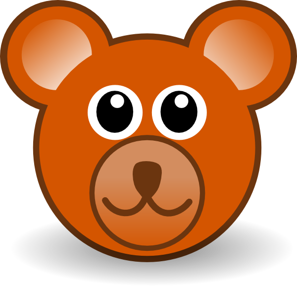 jpg library stock Teddy Bear Head Clipart