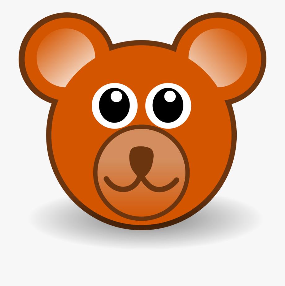vector library stock Ear teddy clip art. Bear head clipart