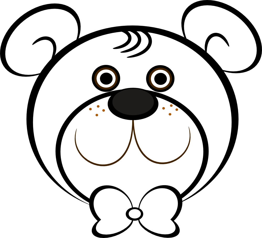 picture black and white download Image of Bear Head Clipart