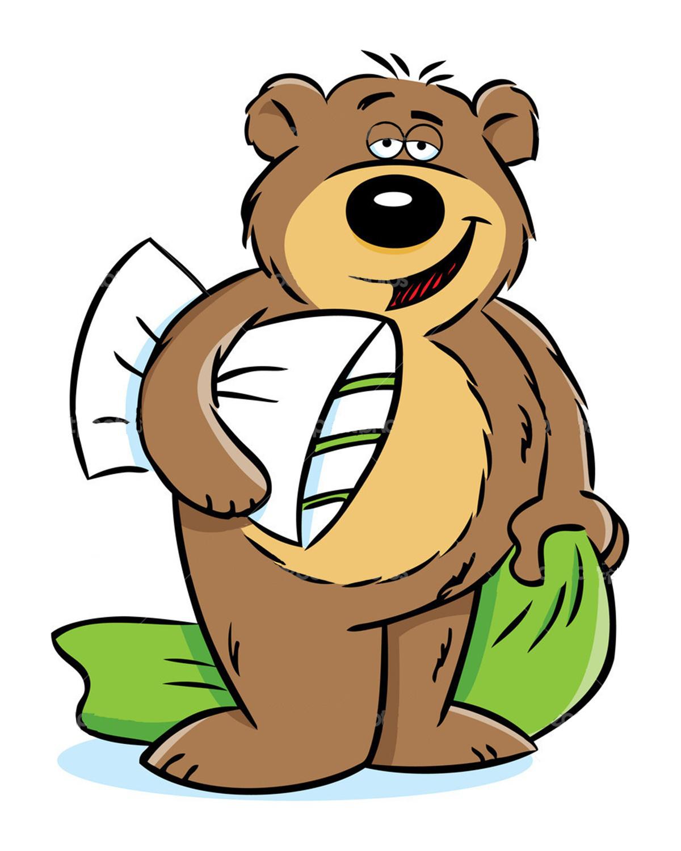 image download Station . Bear hibernating clipart