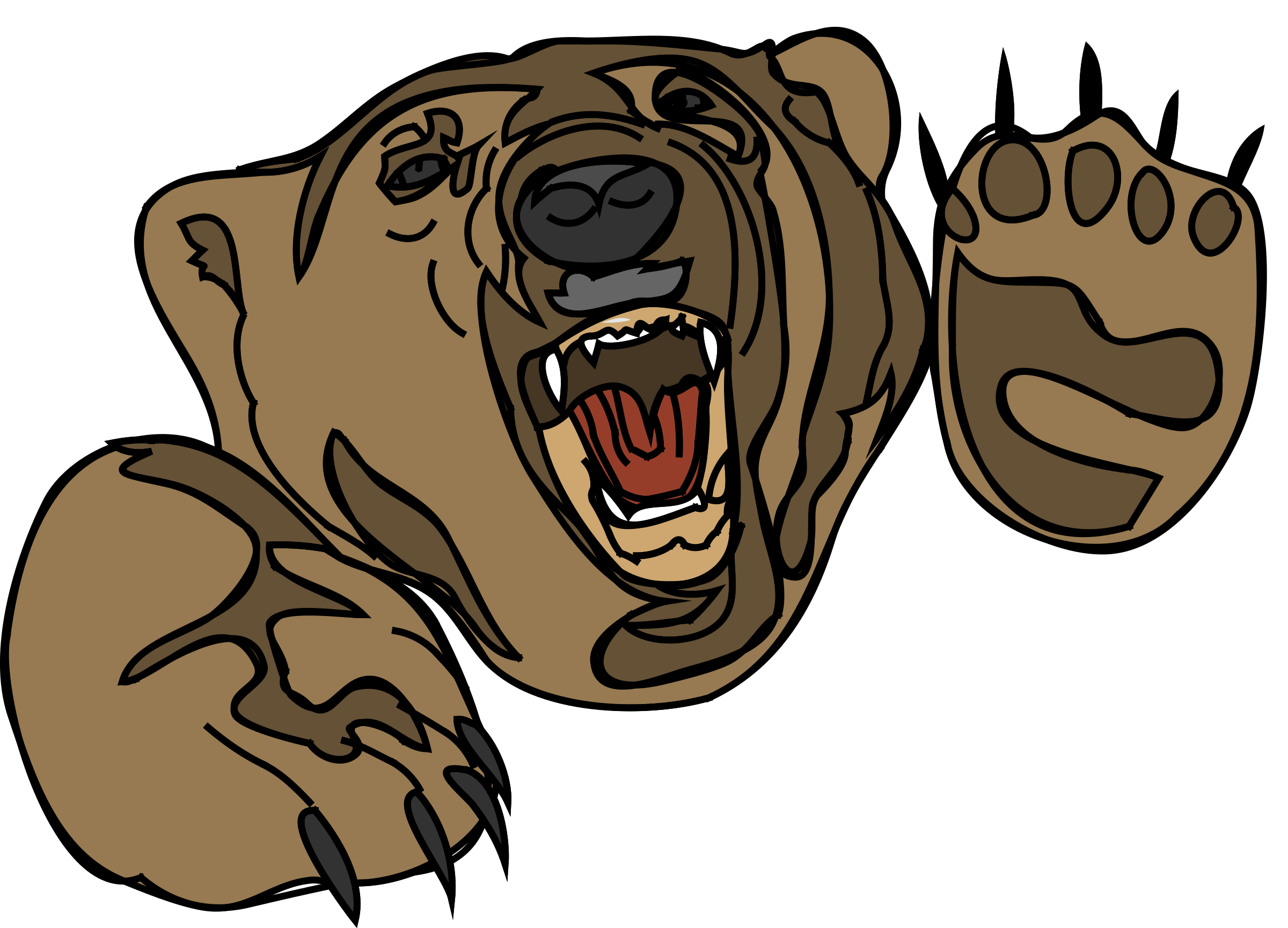 graphic black and white At getdrawings com free. Bear hibernating clipart