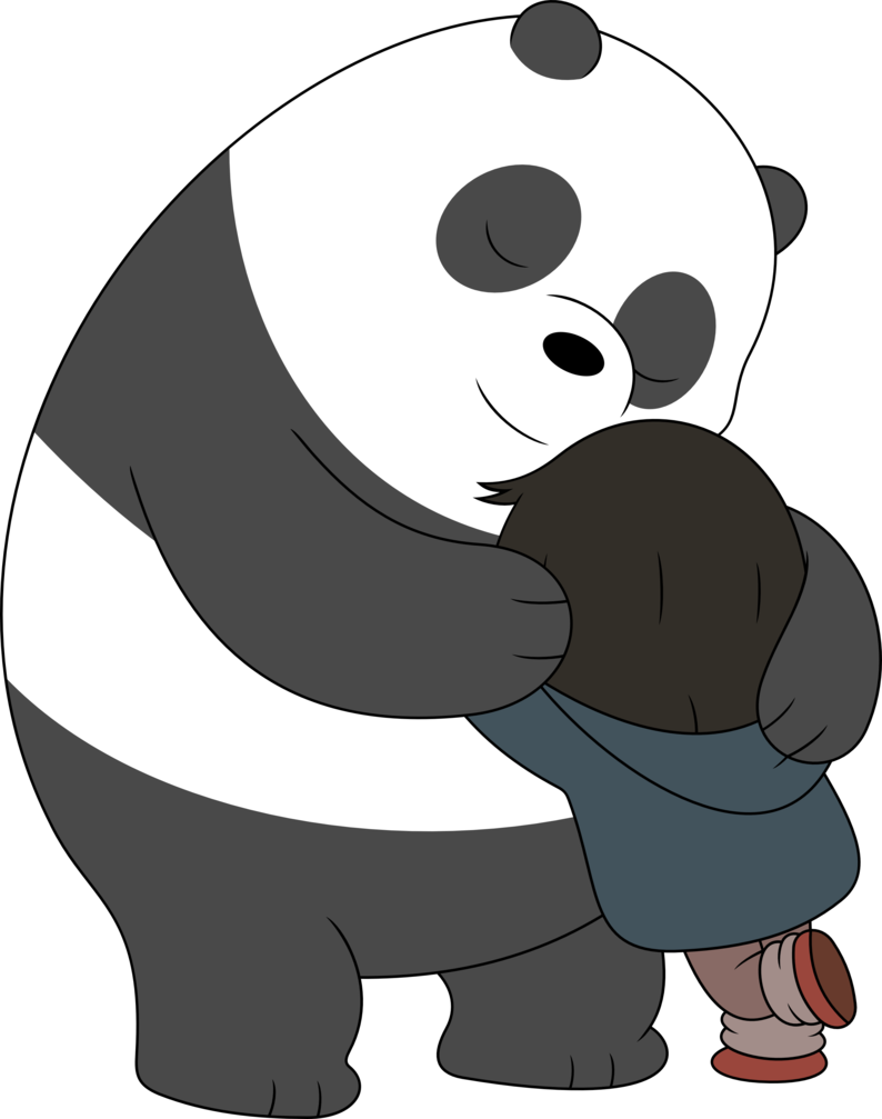 clip art royalty free library By porygon z on. Bear hug clipart