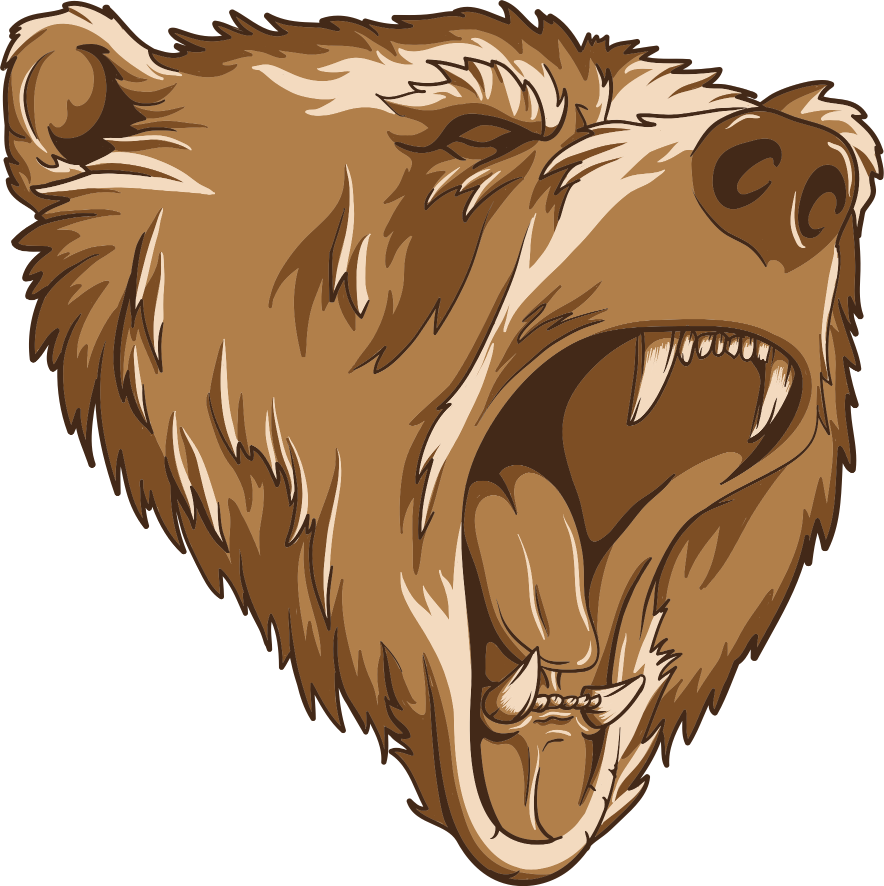 clipart library library Bear mascot clipart. Roaring remix big image