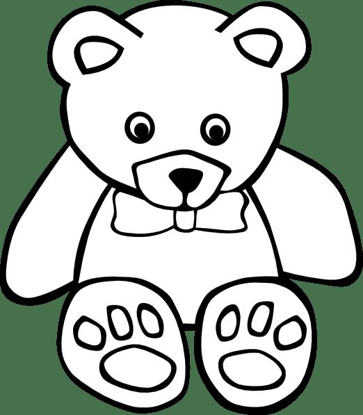 clip transparent library Bear outline clipart. Teddy