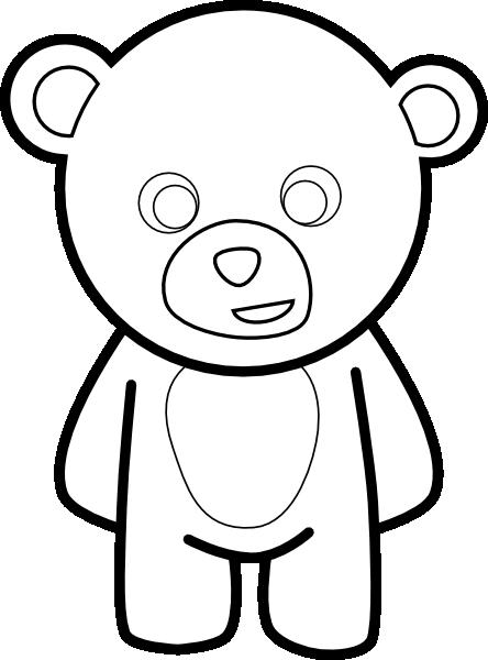 clip freeuse Teddy clip art at. Bear outline clipart