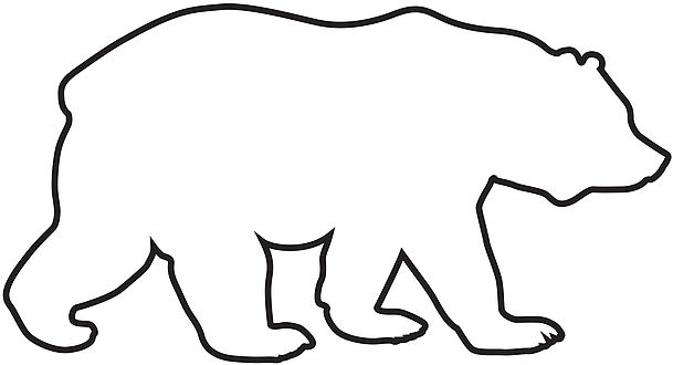 clipart royalty free download Free download best on. Bear outline clipart