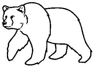 picture black and white Bear outline clipart. Image result for outlines