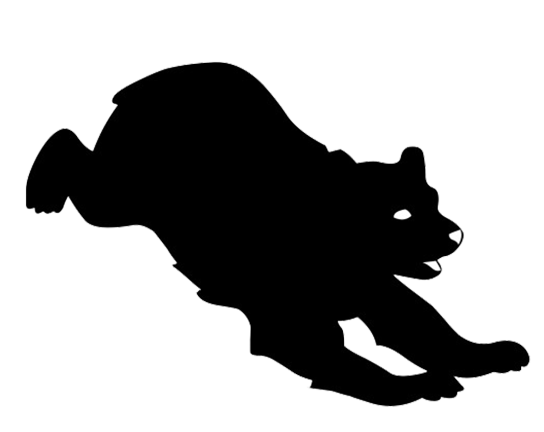 svg Clip art at getdrawings. Bear silhouette clipart