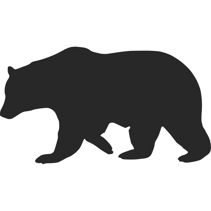 clip free stock Bear silhouette clipart. Free download clip art