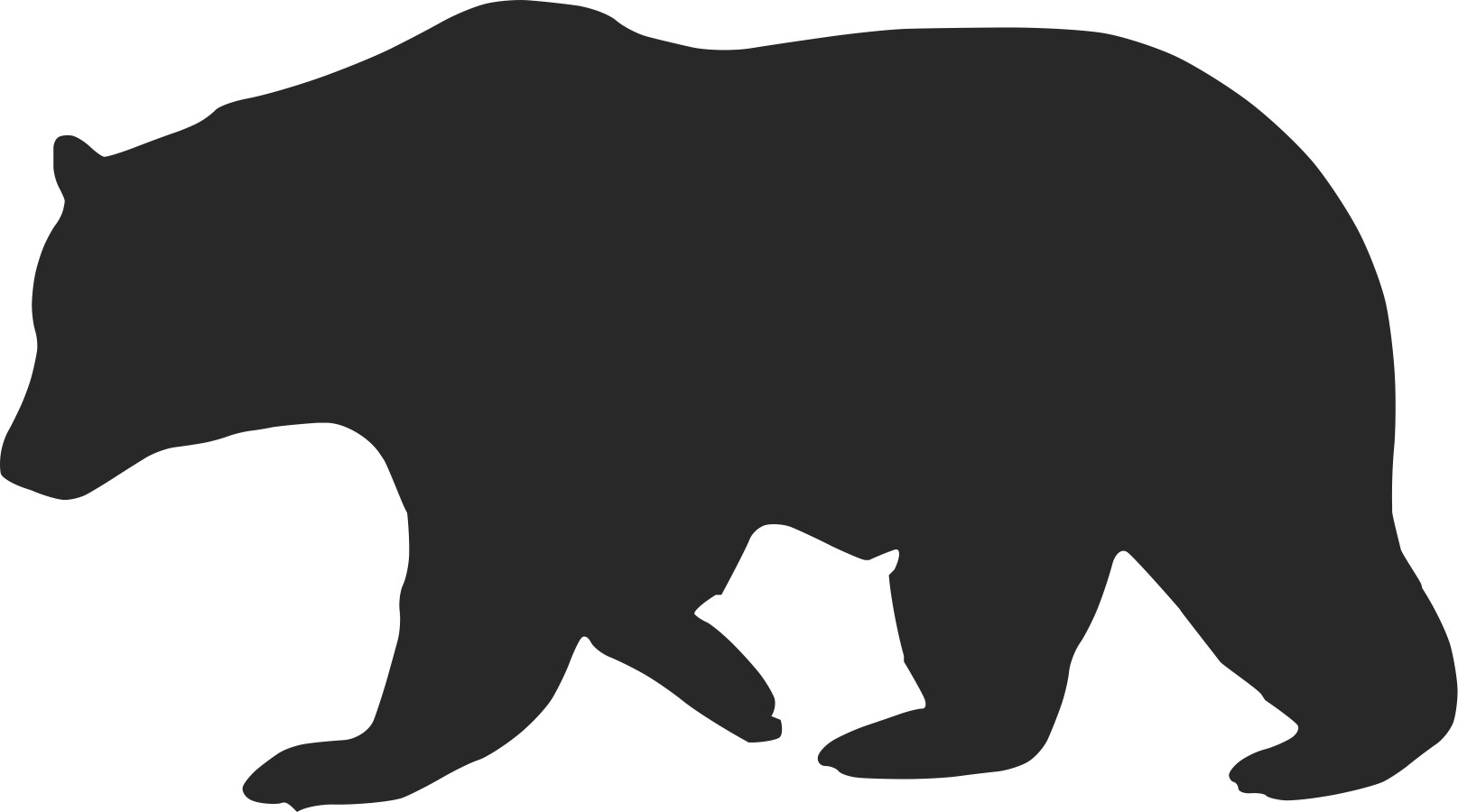 clipart freeuse stock Free black pattern download. Bear silhouette clipart