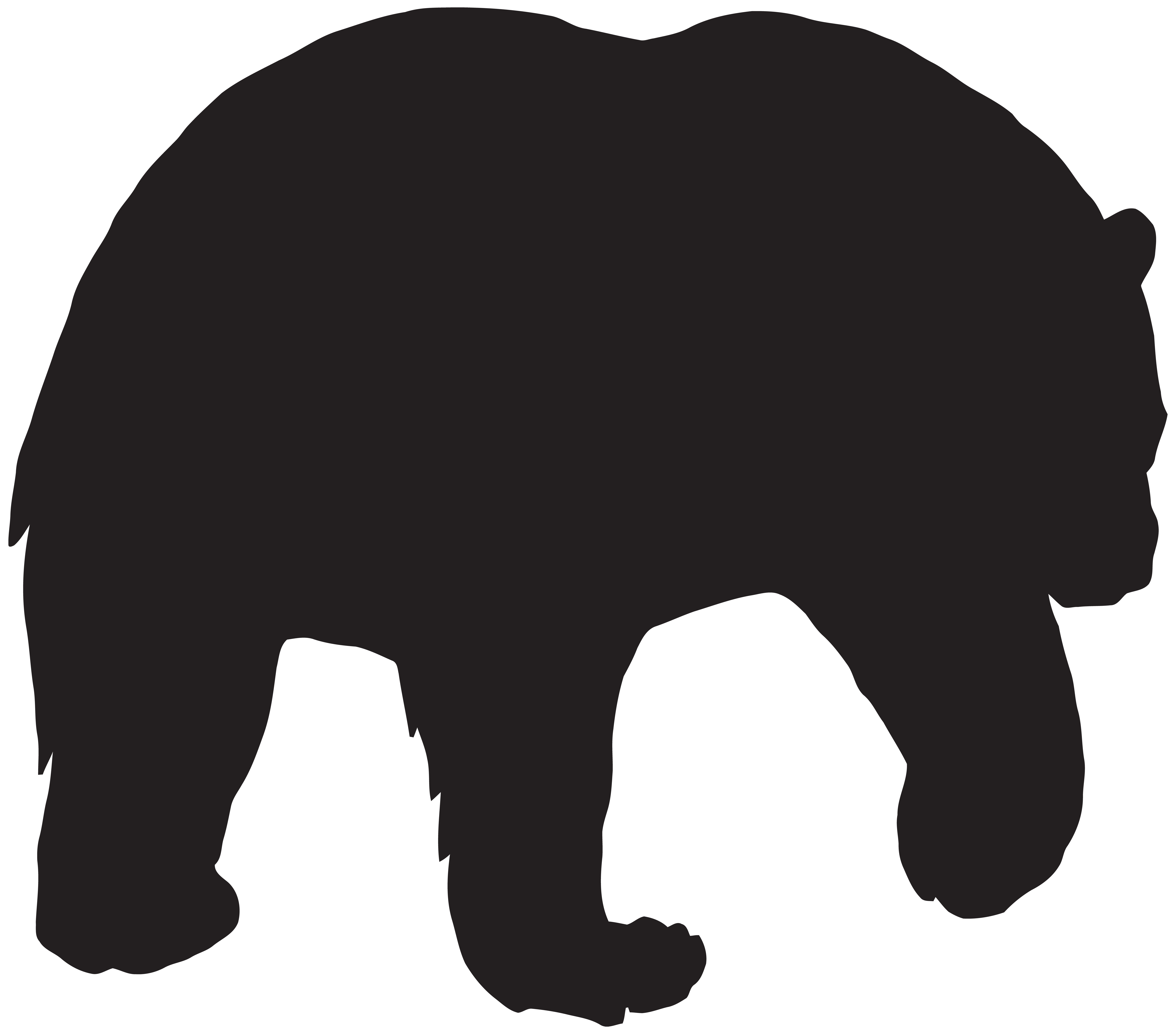 image free library Png clip art image. Bear silhouette clipart
