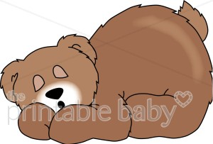clip art royalty free download Teddy baby . Bear sleeping clipart