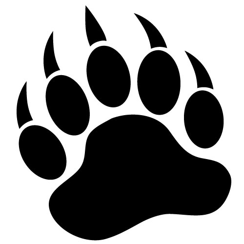 svg royalty free library Free foot print download. Bear tracks clipart