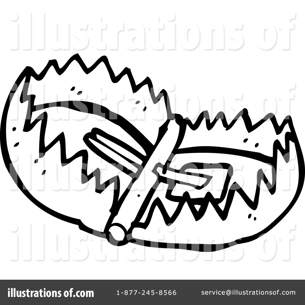 vector Illustration by lineartestpilot . Bear trap clipart