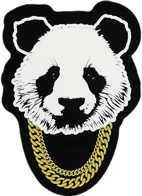 png black and white Poo panda rap music. Bear trap clipart