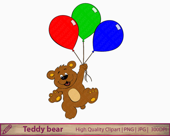 clip free stock Free balloon cliparts download. Bear with balloons clipart