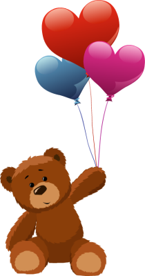 jpg download Bear with balloons clipart. Teddy holding heart tattoos