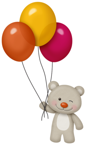 black and white library Bear with balloons clipart. You are my happy