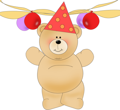 banner library download Birthday . Bear with balloons clipart