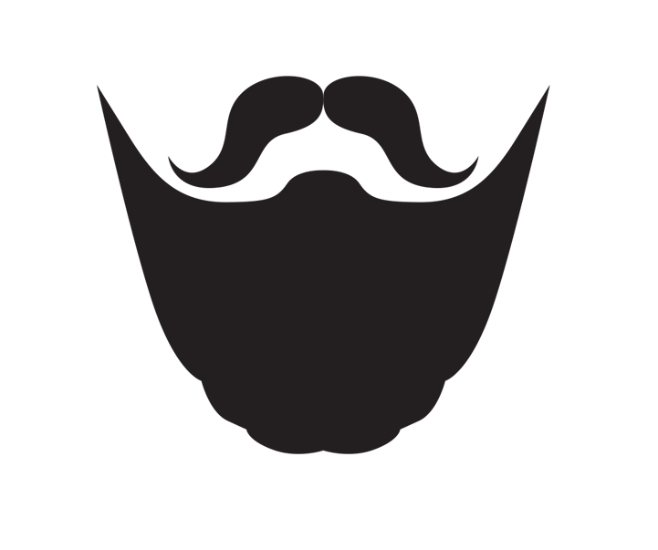 graphic free stock Black line background moustache. Beard clipart animated