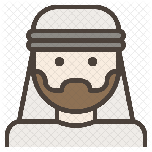 png freeuse stock Arab man icon avatar. Beard clipart arabic.