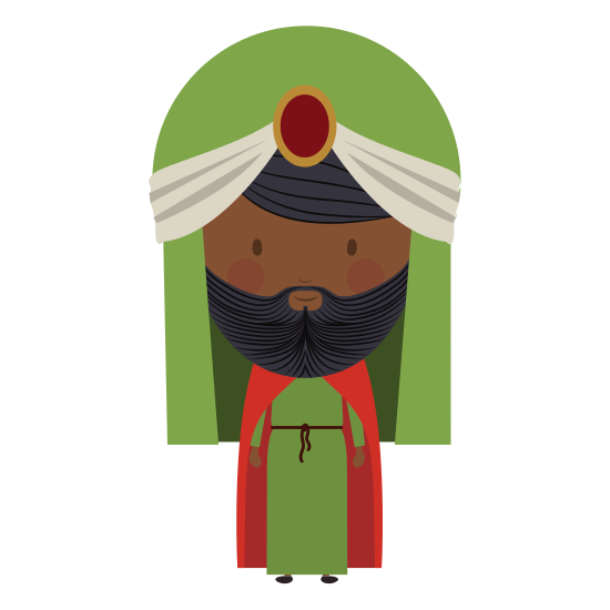 free Beard clipart arabic. Man with turban and